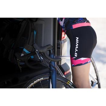 Kurze Radhose Rennrad RC 900 Damen schwarz/pink