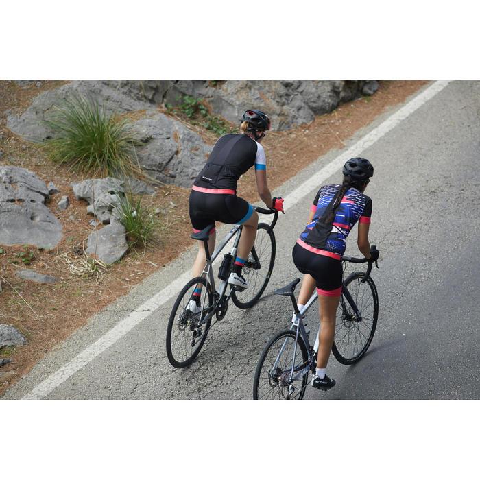 Fietsshirt 900 met korte mouwen voor dames Team driehoeken