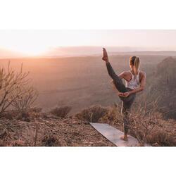 Bustier Yoga nahtlos Damen rosa meliert
