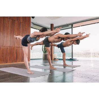 Short Hot Yoga heren donkergrijs