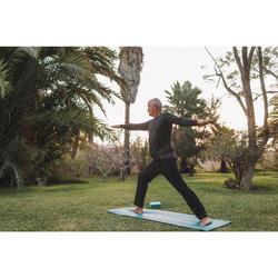 Polyester herenbroek voor dynamische yoga zwart