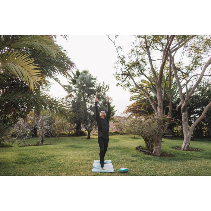 Trainingshose für dynamisches Yoga Herren schwarz