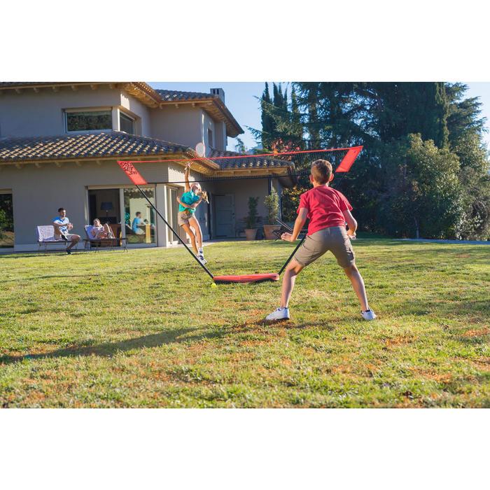 Badminton Easy-Set 3m mit Netz + 2 Schläger + 2 Bälle orange