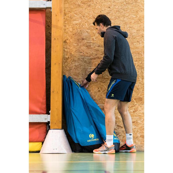 Badmintonnet en palen met officiële afmeting 6,10 m