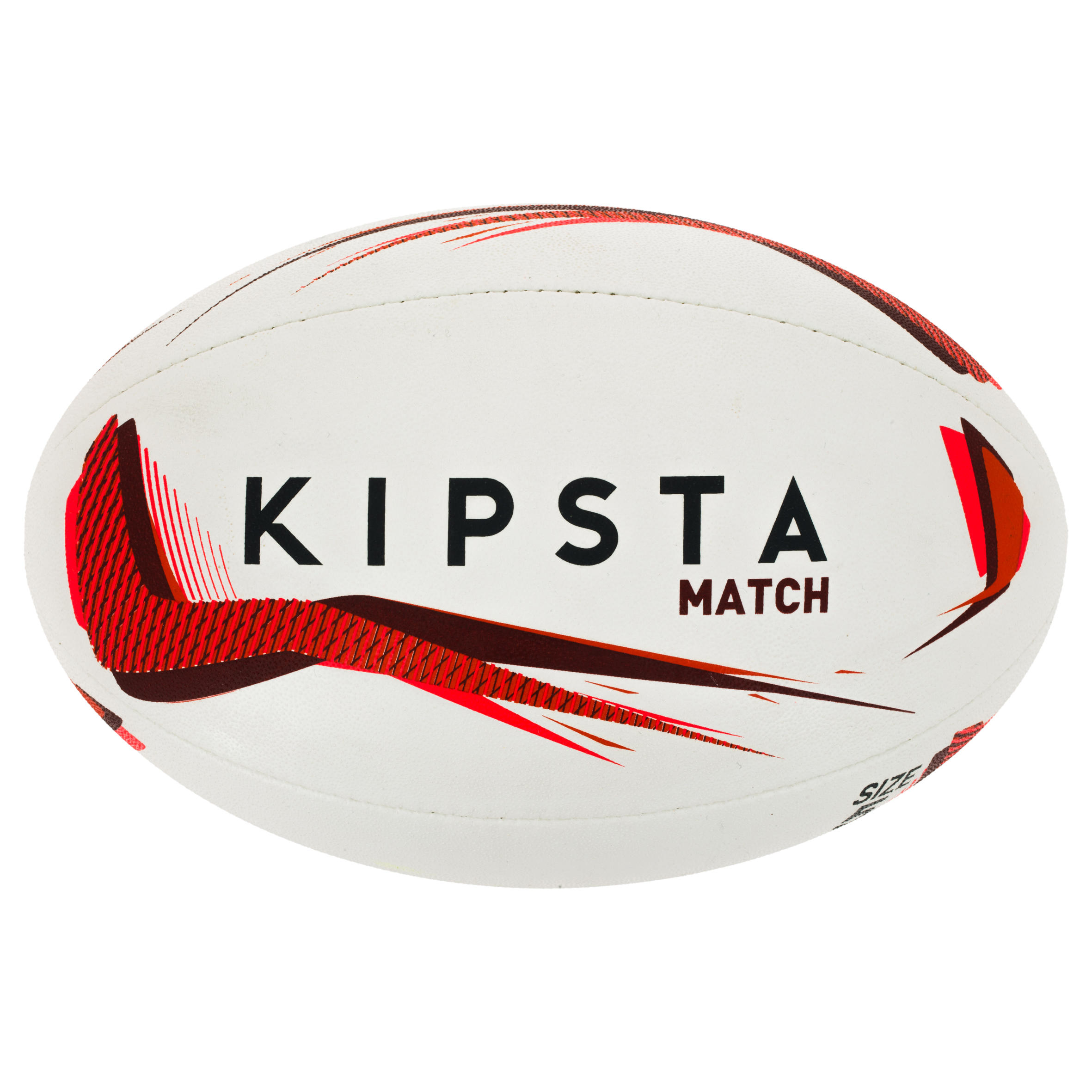 Ballon rugby R500 taille 5 rouge