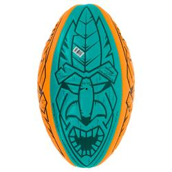 Ballon de rugby Beach R100 midi orange et vert