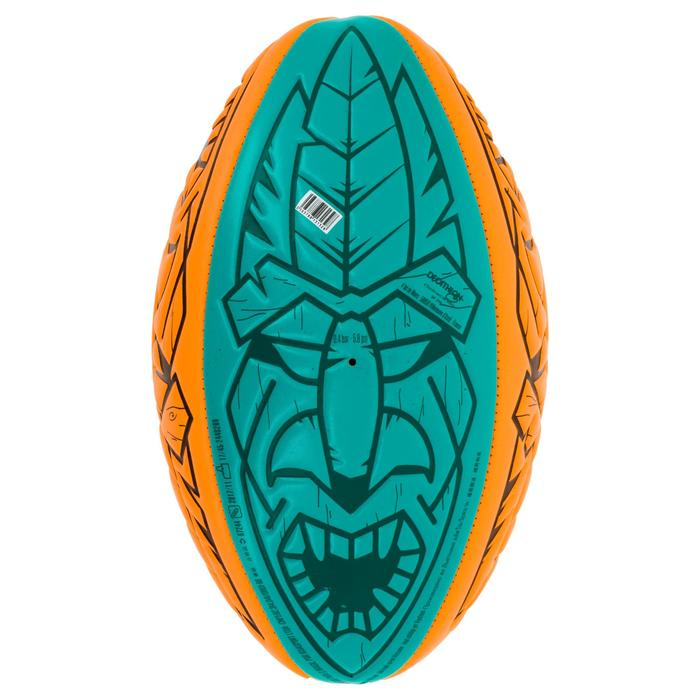 Ballon rugby Beach 100 TIKI midi orange et vert