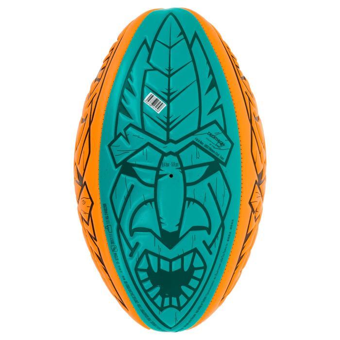 Beach-Rugbyball R100 Midi orange/grün