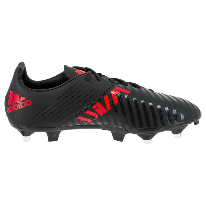 Chaussure de rugby adulte Hybride Adidas Malice SG Gris/rouge - 1311097