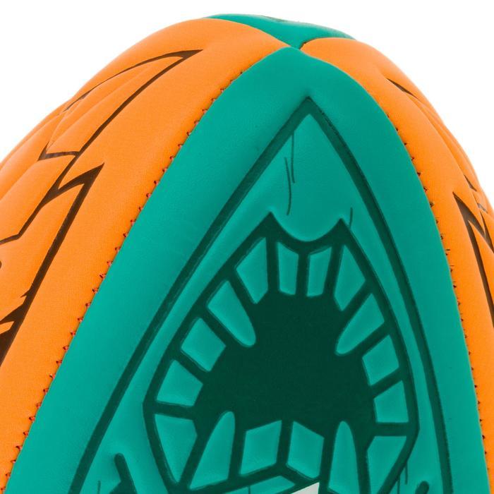 Ballon rugby Beach 100 TIKI midi bleu