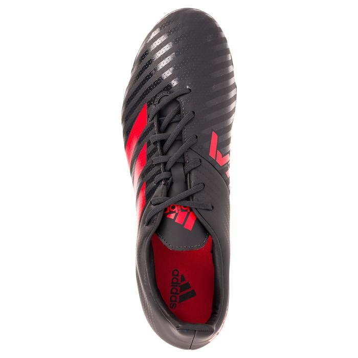 Chaussure de rugby adulte Hybride Adidas Malice SG Gris/rouge - 1311105
