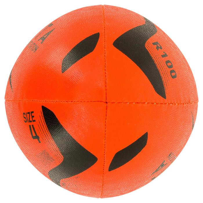 Ballon rugby R100 taille 4 orange