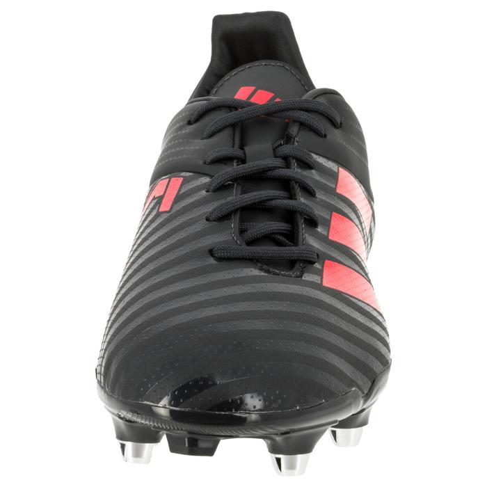 Chaussure de rugby adulte Hybride Adidas Malice SG Gris/rouge - 1311138