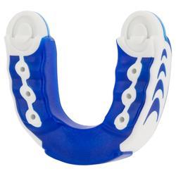 Protège-dents de rugby triple densité adulte bleu blanc