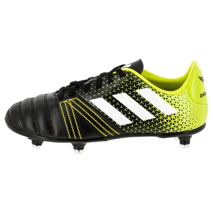 Chaussure de rugby enfant 6 crampons Kakari SG noir/jaune - 1311148