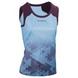 Camiseta sin mangas Rugby Offload R500 mujer Azul y violeta