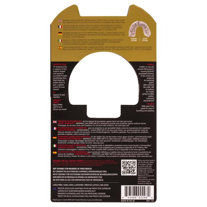 Protège dent rugby adulte Opro Gold rouge
