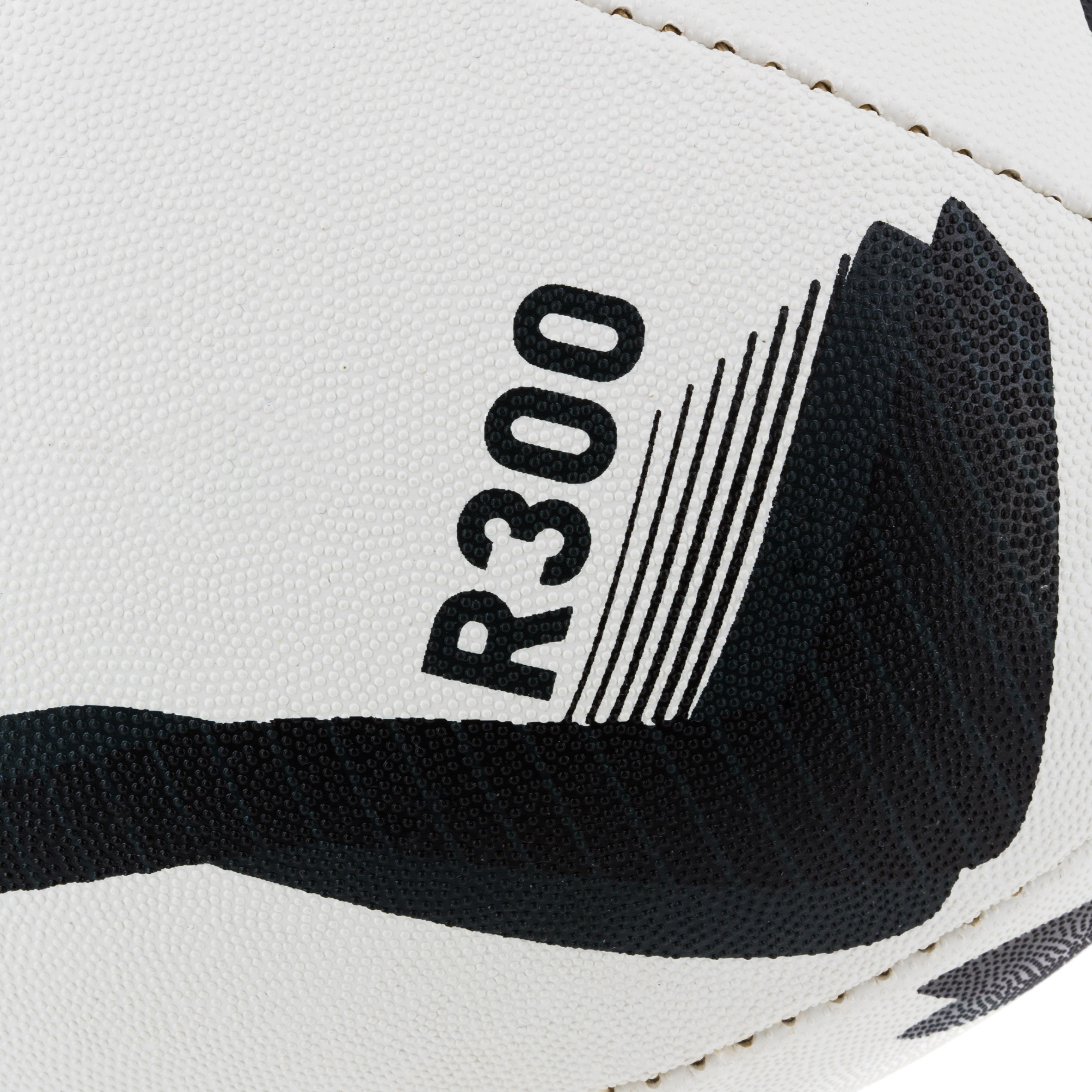 Ballon rugby R300 taille 5 noir