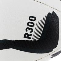 BALÓN DE RUGBY R300 TALLA 5 BLANCO/NEGRO