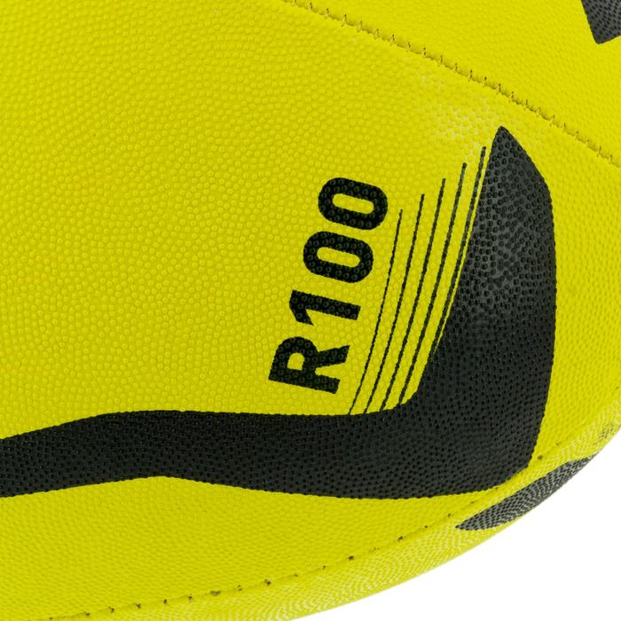 Ballon rugby R100 taille 3 jaune - 1311163