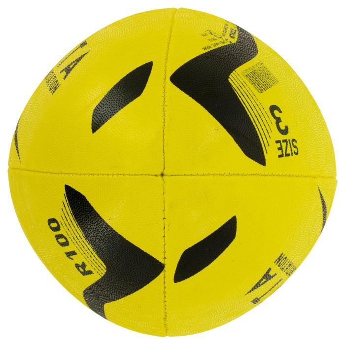 Ballon rugby R100 taille 3 jaune - 1311167