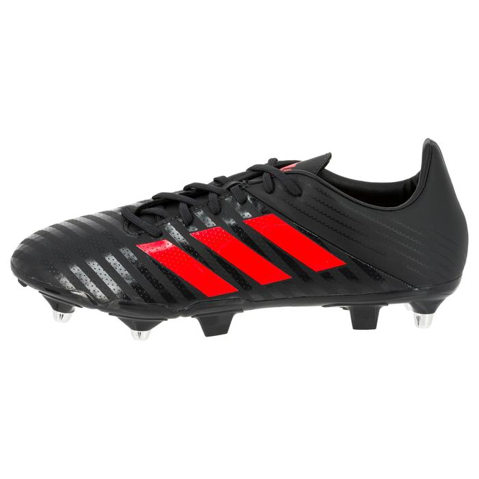 Chaussure de rugby adulte Hybride Adidas Malice SG Gris/rouge - 1311174