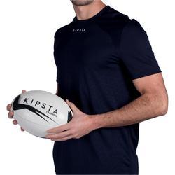 Balón de rugby R300 talla 5 negro