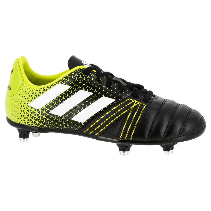Chaussure de rugby enfant 6 crampons Kakari SG noir/jaune - 1311184