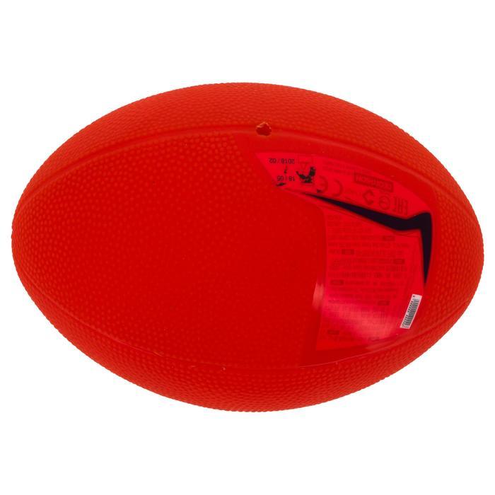 BALLON DE RUGBY LOISIR R100 Mini Rouge PVC