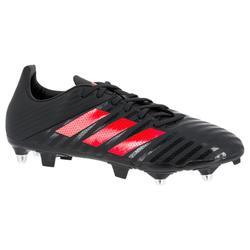 Botas de rugby adulto Hybride Adidas Malice SG Gris/Rojo