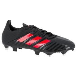 Chaussure de rugby adulte Hybride Adidas Malice SG Gris/rouge