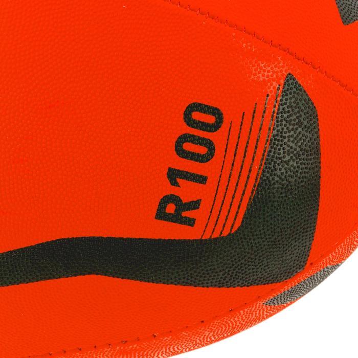 Ballon rugby R100 taille 4 orange - 1311204