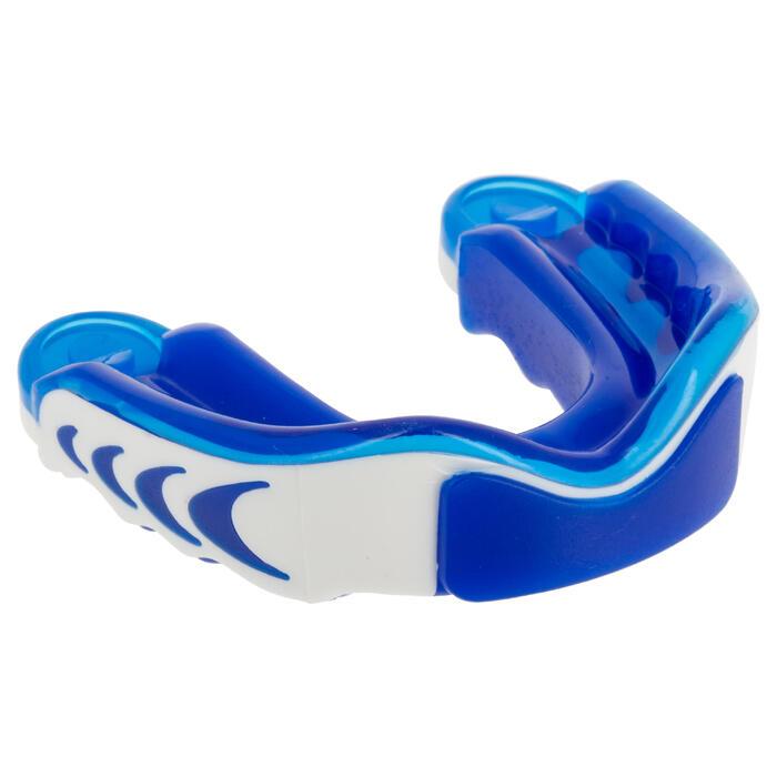 Protège dents rugby triple densité adulte bleu blanc