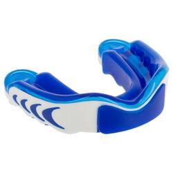 Protector dental rugby triple densidad azul blanco