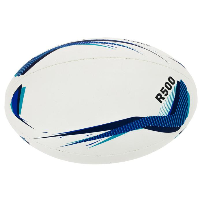 Balón de rugby R500 talla 5 azul