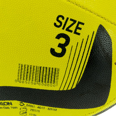 R100 Size 3 Rugby Ball - Yellow