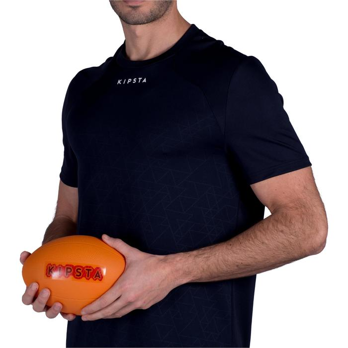 BALLON DE RUGBY LOISIR R100 Midi Orange PVC