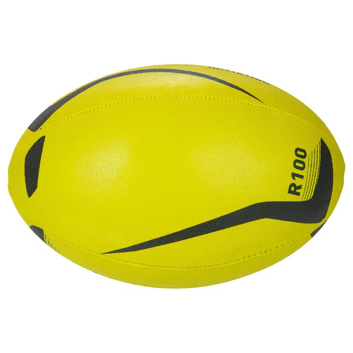 Ballon rugby R100 taille 3 jaune - 1311227