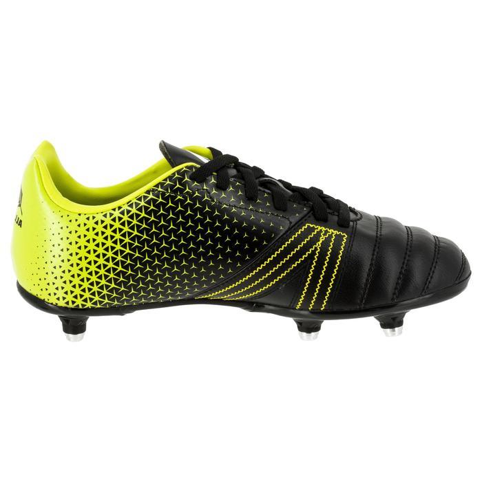 Chaussure de rugby enfant 6 crampons Kakari SG noir/jaune - 1311236