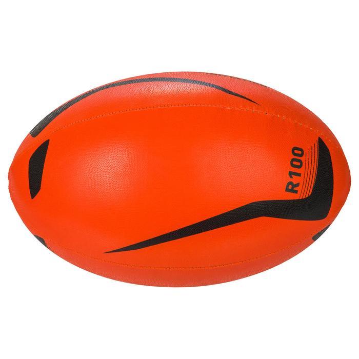 Ballon rugby R100 taille 4 orange - 1311249
