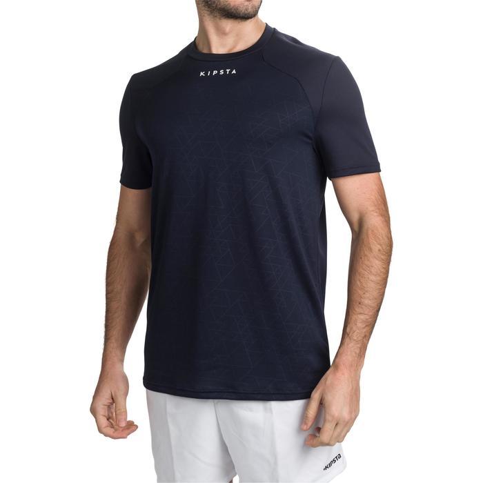 Rugbyshirt voor training volwassenen Perf Tee R500 blauw