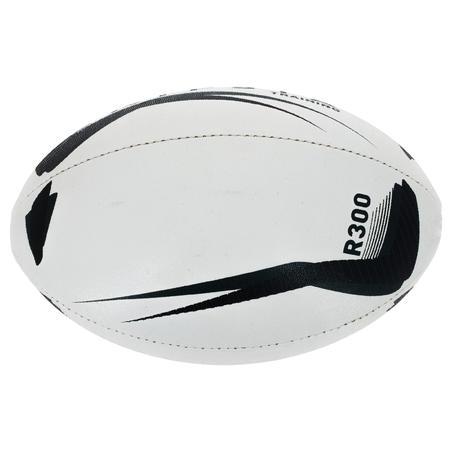 Balón de Rugby Offload R300 Talla 5 Negro