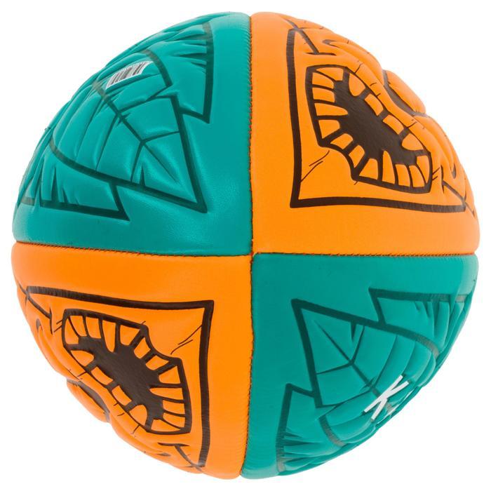 Bal voor strandrugby R100 Tiki midi oranje en groen