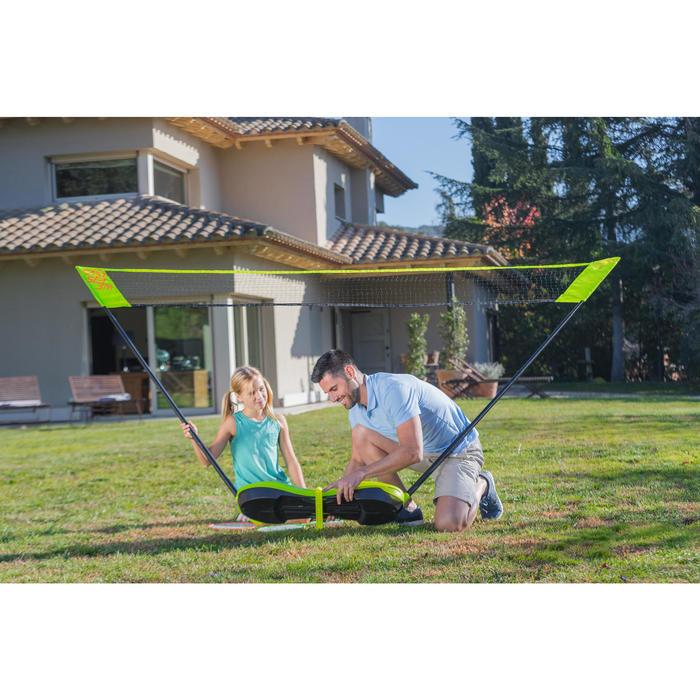 Badminton Easy-Set 3m mit Netz + 2 Schläger + 2 Bälle weiss + gelb
