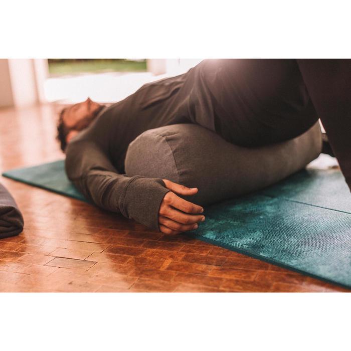 Yoga bolster / kussen in biokatoen gemêleerd grijs
