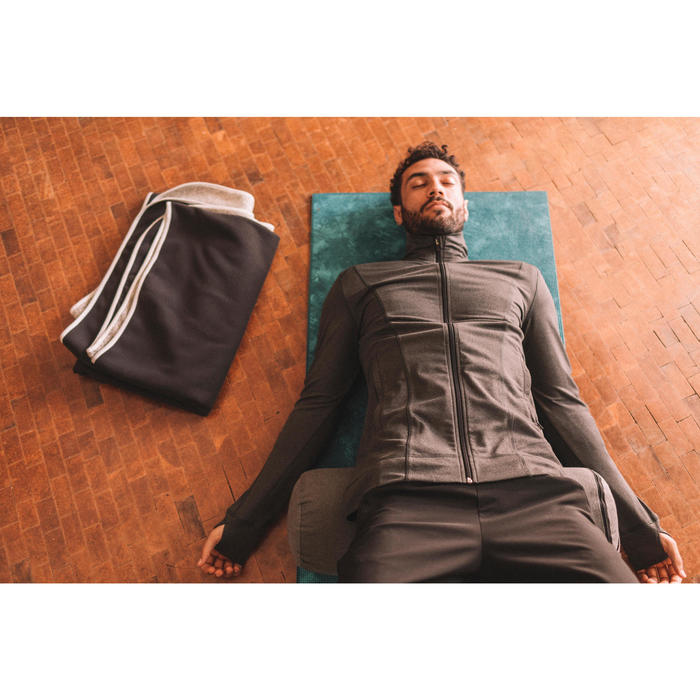 Yoga-Bolster Biobaumwolle grau