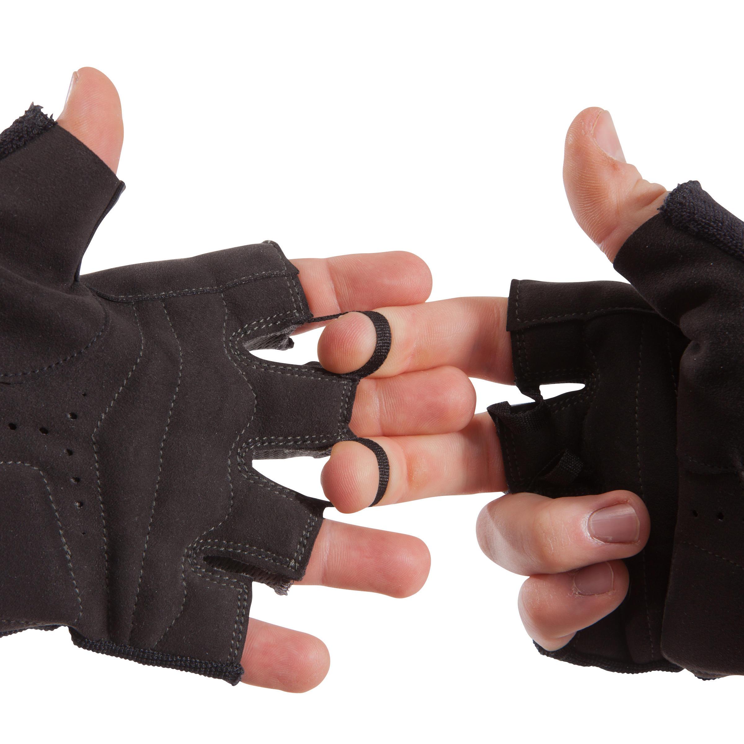 500 Weight Training Glove With Rip-Tab Cuff - Black/Khaki