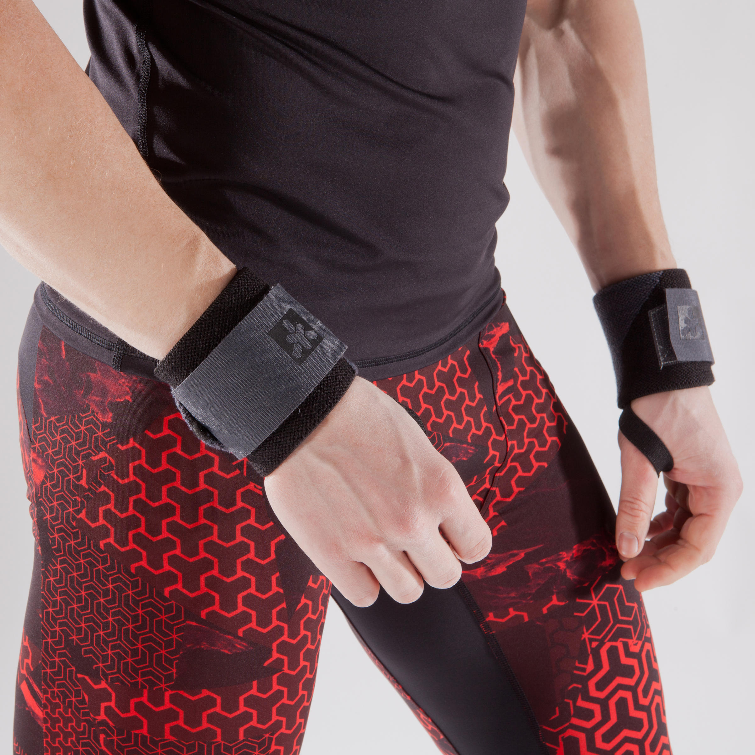 Weight Training Protection Wrist Wraps with Rip-Tab Cuff - Pink