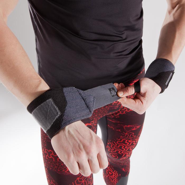 Handgelenk-Stützbandagen Krafttraining Klettverschluss rosa