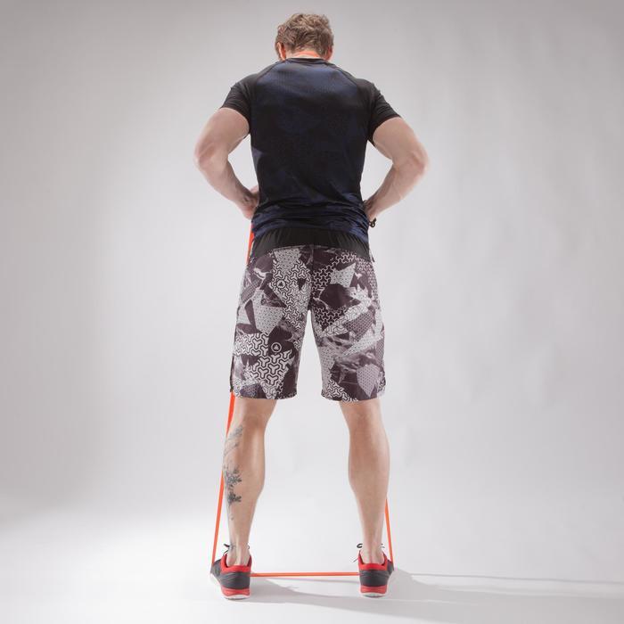 Shorts 900 Crosstraining Herren schwarz/weiß